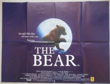 Bear, Original UK Quad Poster, Tcheky, Karyo, '88
